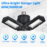 E27 60W 6000LM LED Garage Light Foldable Ceiling Fixture Workshop Deformable Lamp AC85-265V