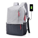 ポリエステルUSB充電 男性用16イン チラップトップバッグ バックパック