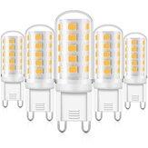 KingSo 6Pcs G9 AC 230V 5W 3000K Dimbare LED Verlichting met 33PCS 2835 Lamp Kralen PC Lampenkap Keramische Basis
