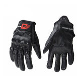 GHOST RACING Touch Screen Leather Gloves Motorcycle Bicycle Protective