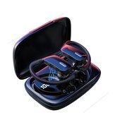Bakeey T17 TWSワイヤレスイヤフォンbluetooth 5.0イヤホンLEDパワーディスプレイ防水スポーツイヤフックゲーミングヘッドセットマイク付きマイク