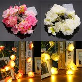 Bateria Powered 20LEDs Warm White Rose Flower Fairy String Light para Natal DC4.5V