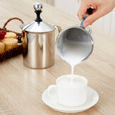 Manual Handheld Milk Frother Foamer Mixer Stainless Steel Coffee Latte Stirrer