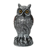 Fake Standing Owl Bird Model Toys Caccia Shooting Decoy Deterrent decorazioni per la casa giardino