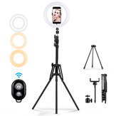 MOHOO 160 cm 10 polegadas 3 modos de cor 10 níveis de brilho USB Video Light Tripod Stand para Tik Tok Youtube Live Streaming
