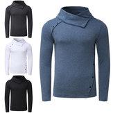 男性用長袖Tシャツカジュアルカラータートルネックトップスウェットサイクリングランニングスポーツシャツ