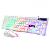 104 Key USB Wired Gaming Keyboard and Mouse Set RGB Backlight for Laptop Computer PC