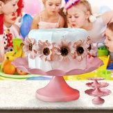 Titulairedegâteaurondenmétal rose de support de gâteau de tasse de gâteau support d'anniversaire d'anniversaire de mariage
