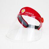 Transparent Face Whield Anti Splash Rain Dustproof Empty Top Hat With Windproof Rope For Men Women