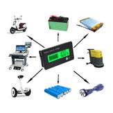 12V/24V/36V/48V 8-70V LCD Indicador de Capacidade de Bateria de Lítio com Chumbo Ácido Voltímetro Digital