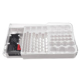 93 Battery Storage Caddy Box Case Holder Organizer Capacity Rack W Tester