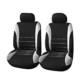 4 Pack Universal Car Seat Cover Set Front Rear Head Rests Full Set Auto Cover