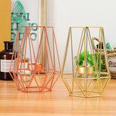 幾何学的な燭台金属鉄キャンドルホルダー結婚式の家の装飾北欧スタイル