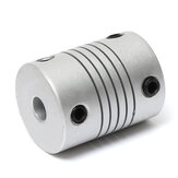 2 stks 5mm x 8mm Aluminium Flexibele As Koppeling OD19mm x L25mm CNC Stappenmotor Coupler Connector