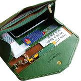 Universal PU cuero de gran capacidad tarjeta de ranura de la aguja bolsa de embrague de la cartera para el teléfono bajo 5.5 pulgadas