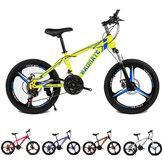 KAIMATE 20 pouces 21 vitesses VTT 3 lames roues freins à disque avant et arrière vélo enfants équitation vtt vélo