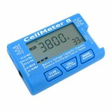 AOK CellMeter 8 Multifunctional Digital Battery Capacity Servo Checker Tester 2S-8S