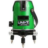 UNI-TLM550G5LinhasVerdeLaser Nível Nível Grau de Autonivelamento de 360 Graus Laser Nível Fortalecer Botão de Toque de Brilho