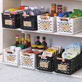 Plastisk køkken Plastisk køleskabskurv Køleskab Opbevaring Rack Fryser Hyldeholder Badeværelse Desktop Storag Plastopbevaringssagearrangør