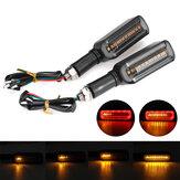 2 قطعة 12 فولت دراجة نارية LED إشارة الانعطاف تتدفق المياه DRL أضواء وامض وامض