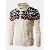 Suéteres de malha de meia botão quente para homens