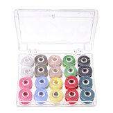 Clear Plastic Bobbins With 20pcs Sewing Machine Spools Yarn Thread Storage Box