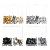 100pcs/Set 10mm Eyelet with Washer Installation Tools Leather Rivet Buckle Deco