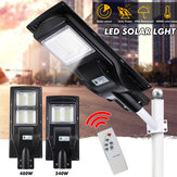 234/468 LED Solar Powered Street Lights Outdoor Remote Control Security Light US