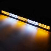 23 Polegada 12 V 20 LED Barra de Luz de Aviso de Emergência Strobe Âmbar & Branco com Ventosas Grandes Isqueiro de Carro