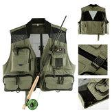 Maxcatch Netzfliegenfischen Weste Jagd Photographing Weste Multifunktionale Taschen Jacken