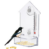 Bird Feeder with Thermometer Birds Hanging Feeding Tool for Garden Yard Decoration