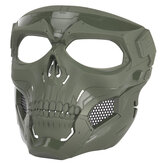 Halloween Cráneo Tactical Airsoft Mascara Paintball CS militar Casco protector integral