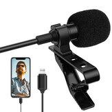 Microphone à condensateur à revers ALTSON AL-M1 pour téléphone portable Lightning pour iPhone Micro Lavalier Portable pour enregistrement audio vidéo DV Micro à pince pour caméscope Smartphone