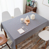 Tovaglia pastorale semplice in cotone e lino Tovaglia geometrica semplice con fascia colorata Tovaglia geometrica semplice Tovaglia geometrica pastello in cotone a righe
