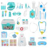 44 stks Kinderen Spelen House Doctor Speelgoed Set Simulatie Medische Kit Injectie Rollenspel Classic Speelgoed voor Kinderen
