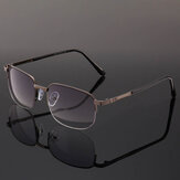 Metal Frame Bifocal Reading Glasses with Case Casual Computer Presbyopic Glasses