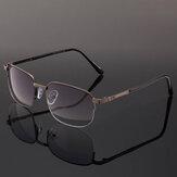 Kacamata Baca Bifokal Bingkai Logam dengan Kotak Kacamata Presbyopic Komputer Kasual