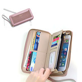 Women Multi-function Faux Leather Wallet 6 Inch Phone Bag