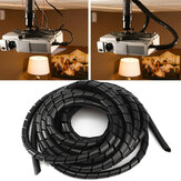 6m Tidy Wire PC TV Organizing Wrapping Cable Cover Spiral Office Tube Gestire il cavo