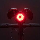 ROCKBROS 100LM Bisiklet Kuyruk Işığı Fren Algılama Arka Işıklar 7 Mod USB Şarj Edilebilir Güvenlik Uyarısı Lamba