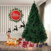 2.1 متر أخضر شجرة عيد الميلاد الاصطناعية الصلبة حامل عطلة تزيين المنزل