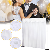 3x3M Blanco Stage Boda Party Backdrop Photography Background Cubre cortinas
