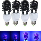 UV Ultraviolet Spiral Low Energy Saving CFL Light Bulb E27 Screw Black Light Bulb 220V