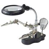 LED ضوء سبيكة لحام Stand Holder مساعدة الأيدي المكبرة العدسة المكبرة