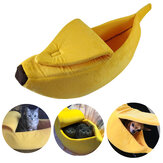 Hund Katze Bett Warme Hausmatte Durable Kennel Doggy Soft Puppy Kissen Banana Form Korb