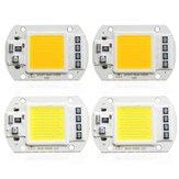 1X 5X 10X 50 W 4200LM Ciepły / Biały DIY COB LED Żarówka Chip Klubalik 60x40mm Do Powodzi Światła AC110 / 220 V