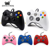 DATA FROG Ergonomics USB Wired Gamepad para Windows 7/8/10 Game Controller con vibración ajustable Feedback