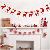 Christmas 2017 3M Red Gold Silver Christmas Elk Banners Paper Garlands for Christmas Party Supplies