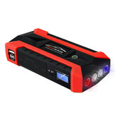 JX29 Draagbare auto Jump Starter 89800mAh 600A Peak 12V Emergency Battery Booster met LED-zaklamp kompas