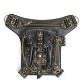 Steampunk vita del piedino borsa di pelle dell'anca borsa fondina cintura sacchetto epoca borsa locomotiva punk